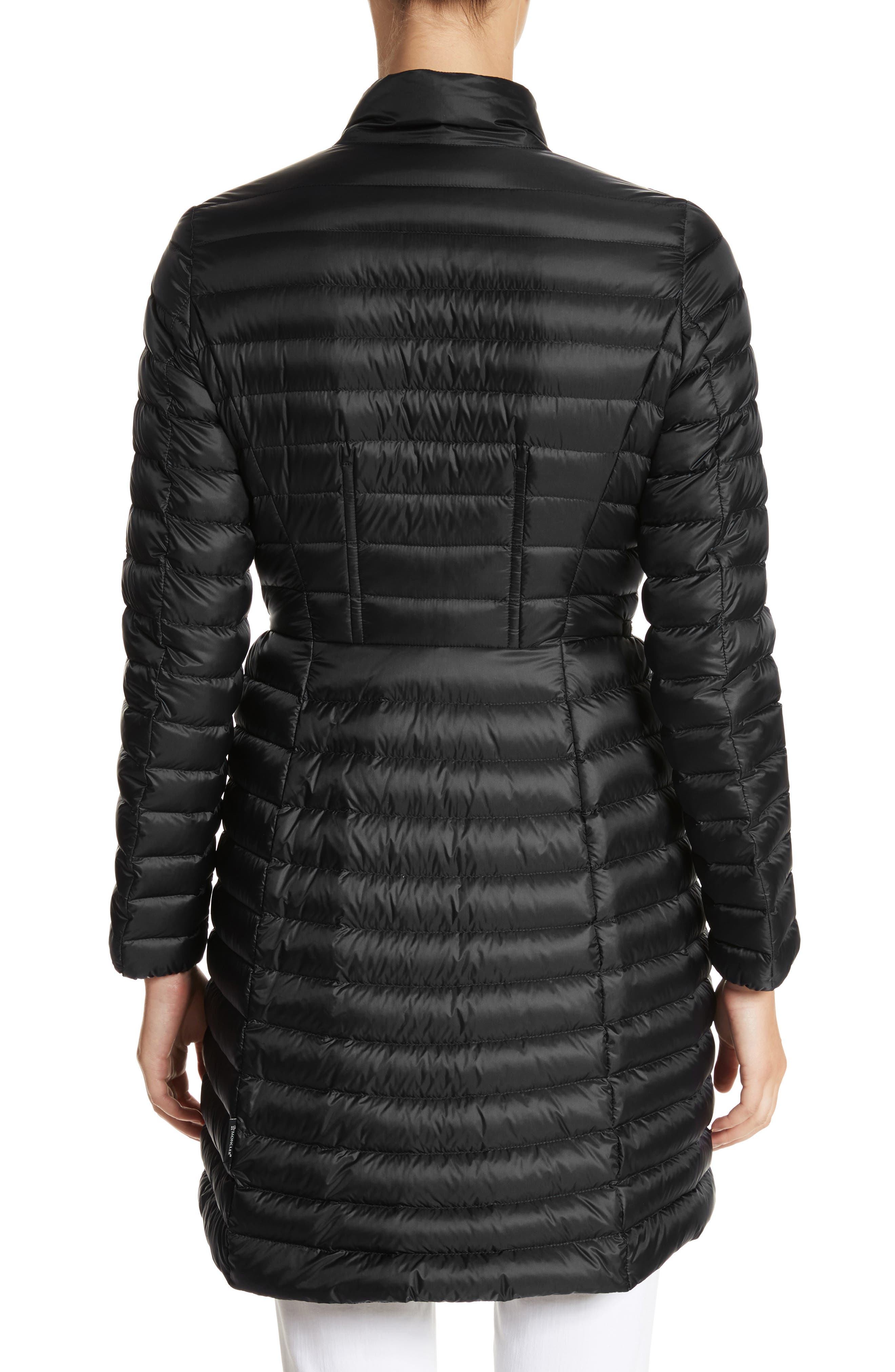 MONCLER, Agatelon Down Quilted Puffer Jacket, Alternate thumbnail 2, color, BLACK