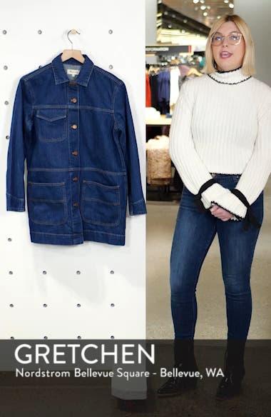 Oversized Denim Chore Jacket, sales video thumbnail