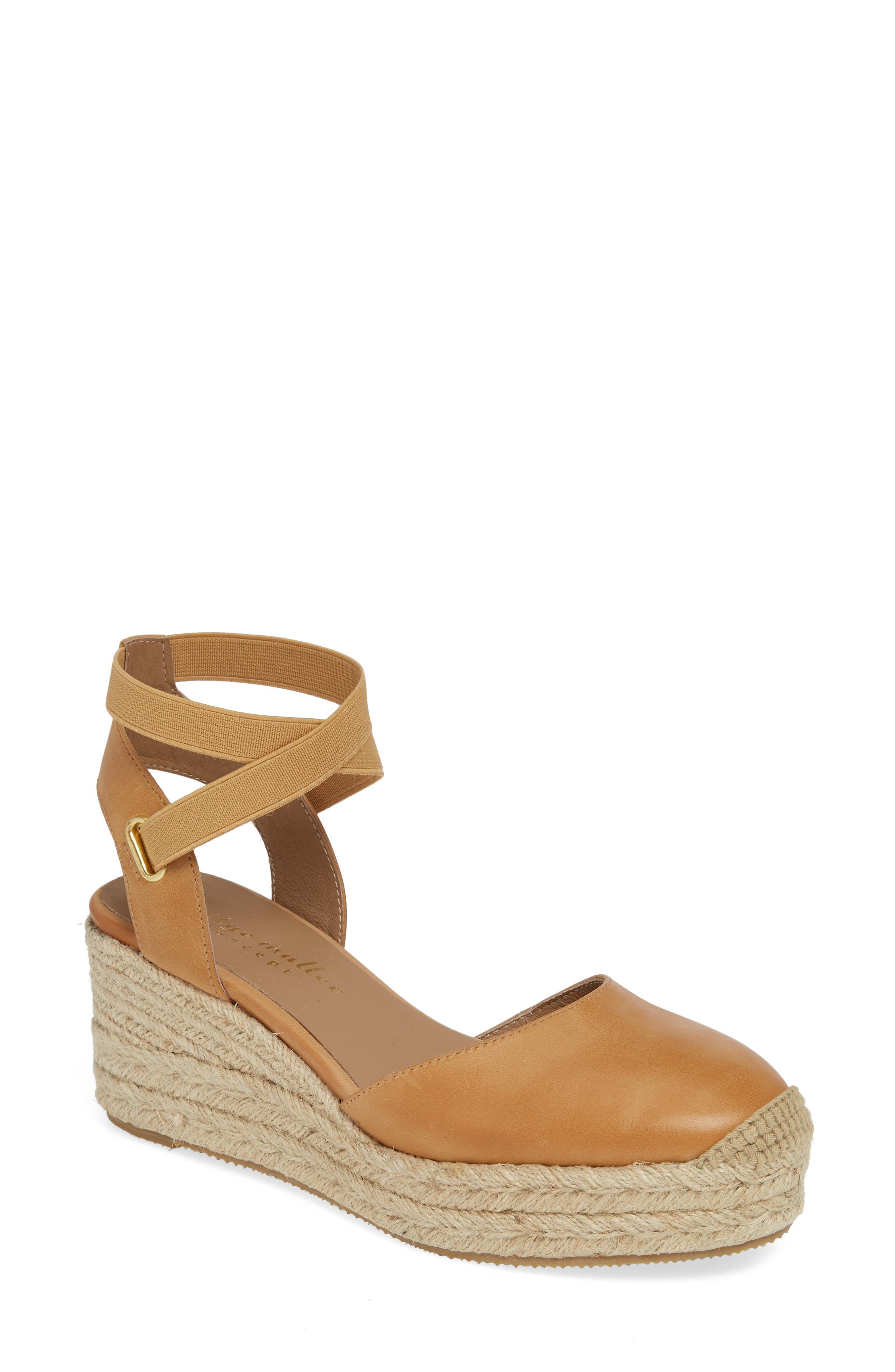 Bettye Muller Concepts Reba Espadrille Wedge, Beige
