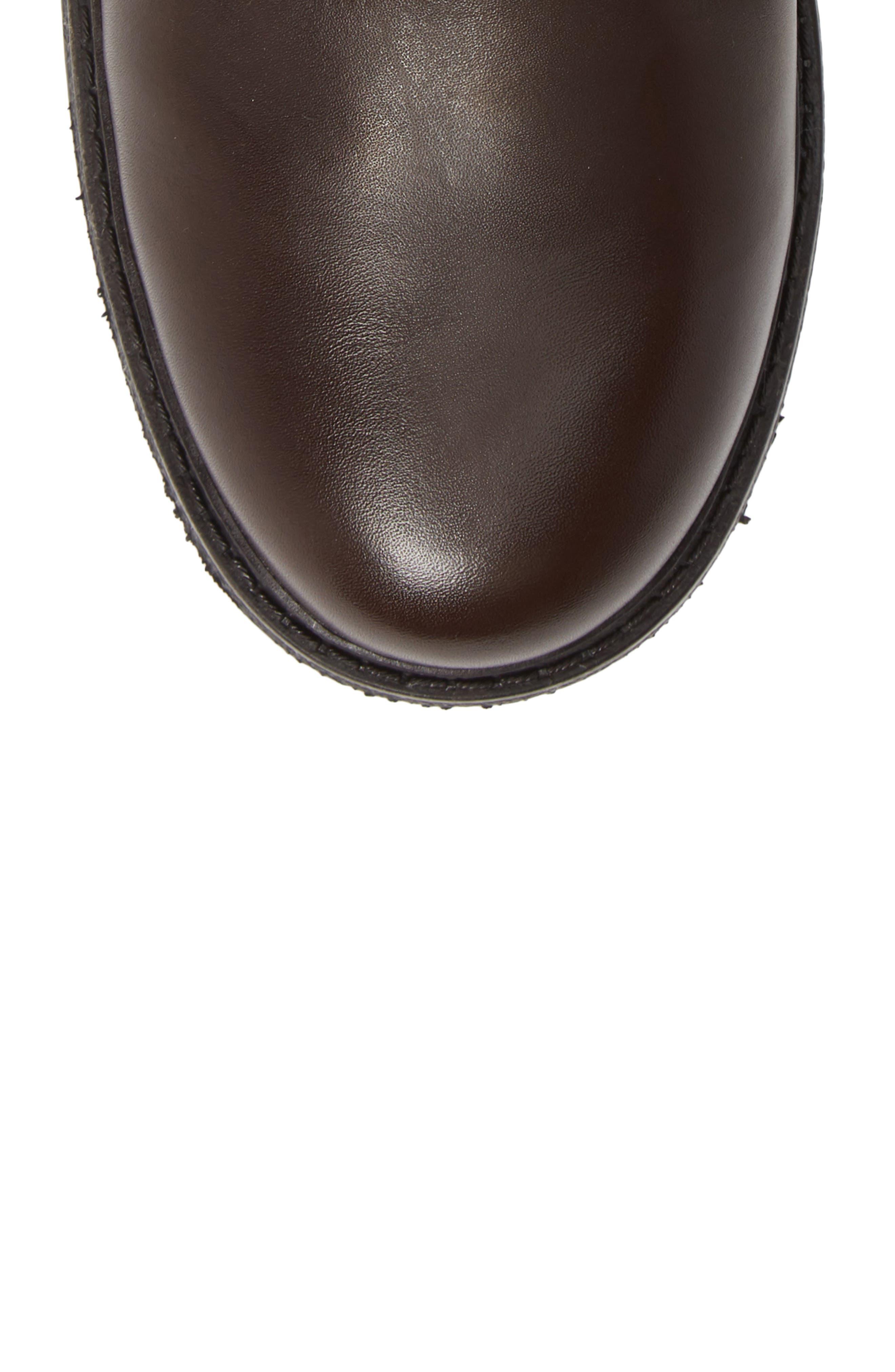 BLONDO, Jasper Waterproof Plain Toe Boot, Alternate thumbnail 5, color, BROWN LEATHER