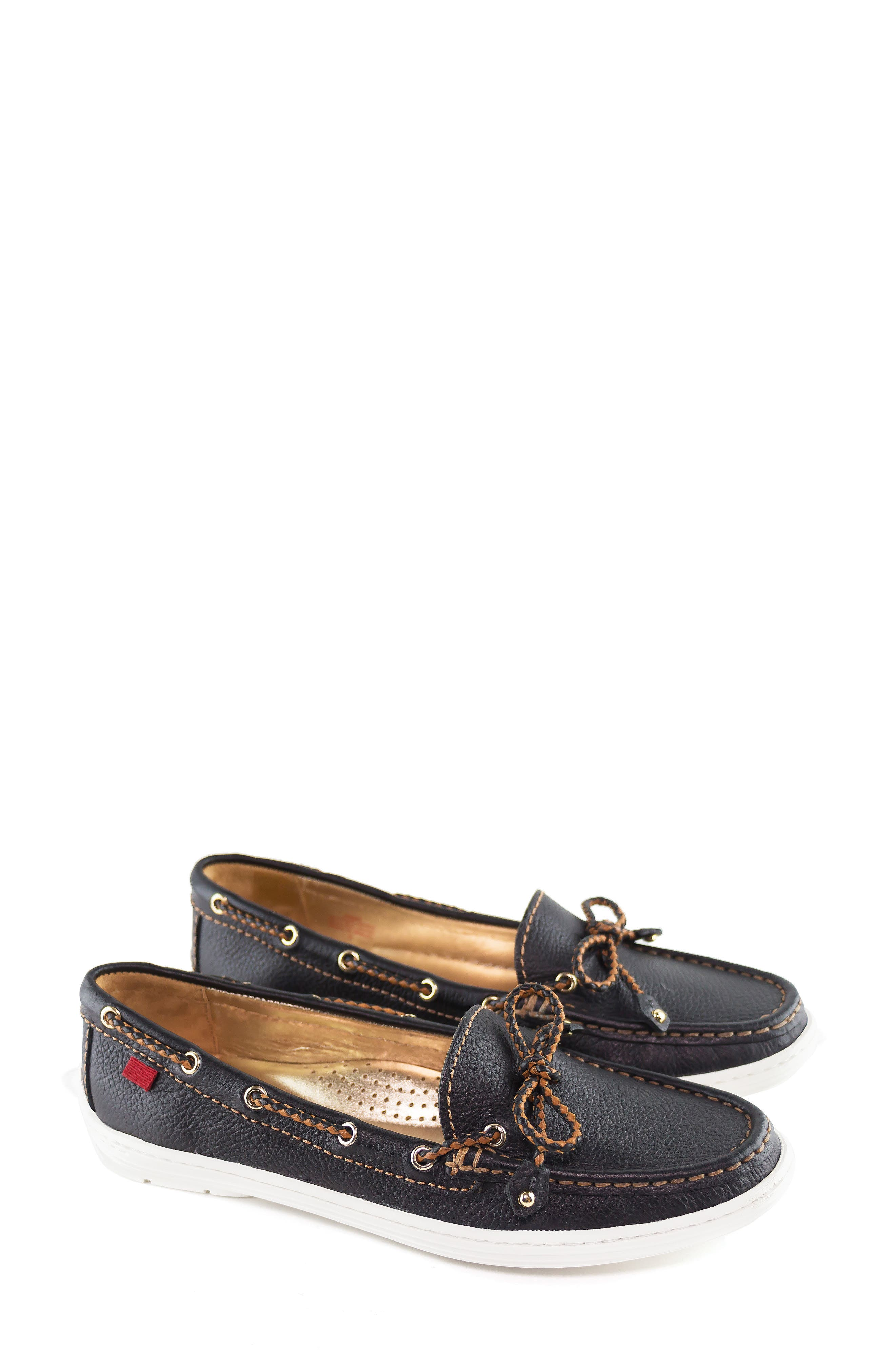 MARC JOSEPH NEW YORK, Pacific Loafer, Alternate thumbnail 7, color, BLACK LEATHER