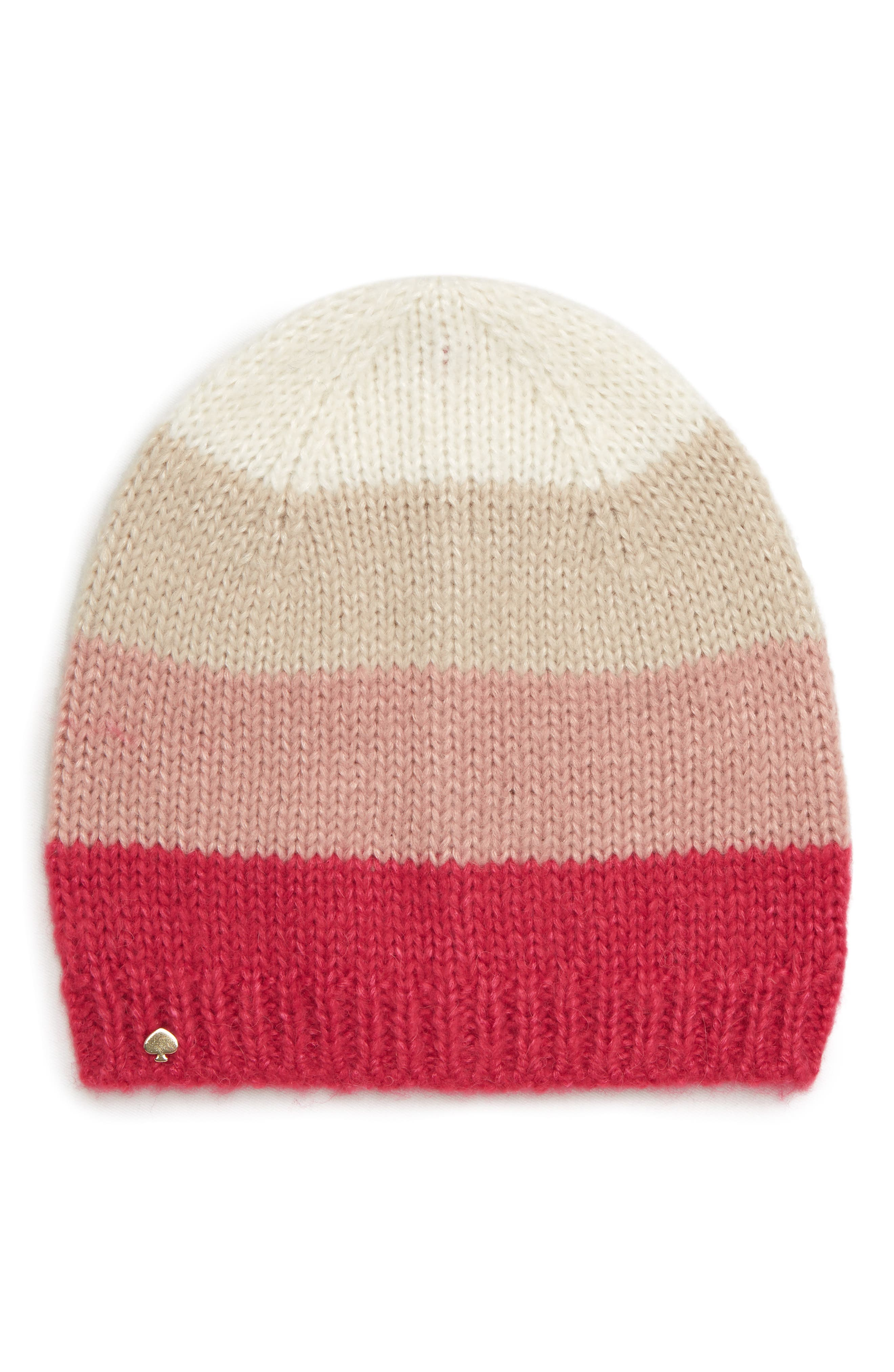 KATE SPADE NEW YORK, colorblock beanie, Main thumbnail 1, color, 658