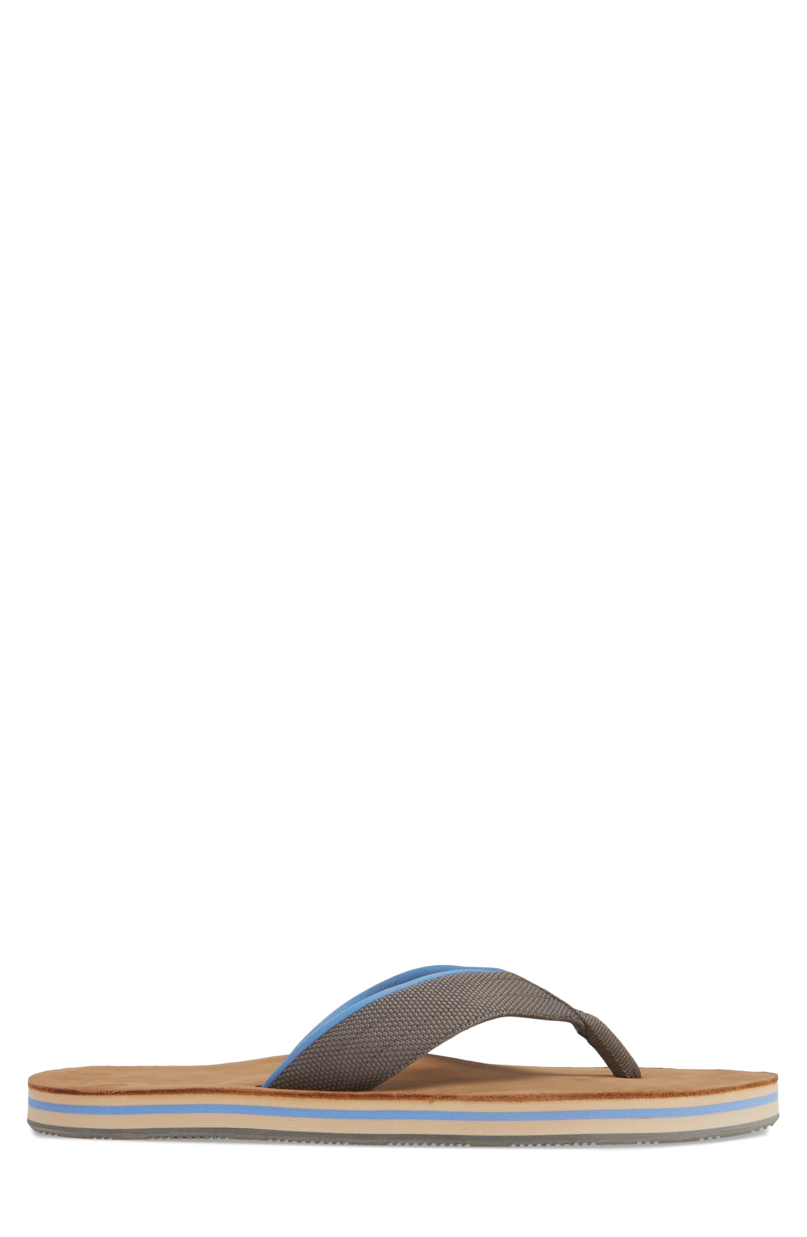HARI MARI, 'Scouts' Flip Flop, Alternate thumbnail 3, color, GRAY/ BLUE
