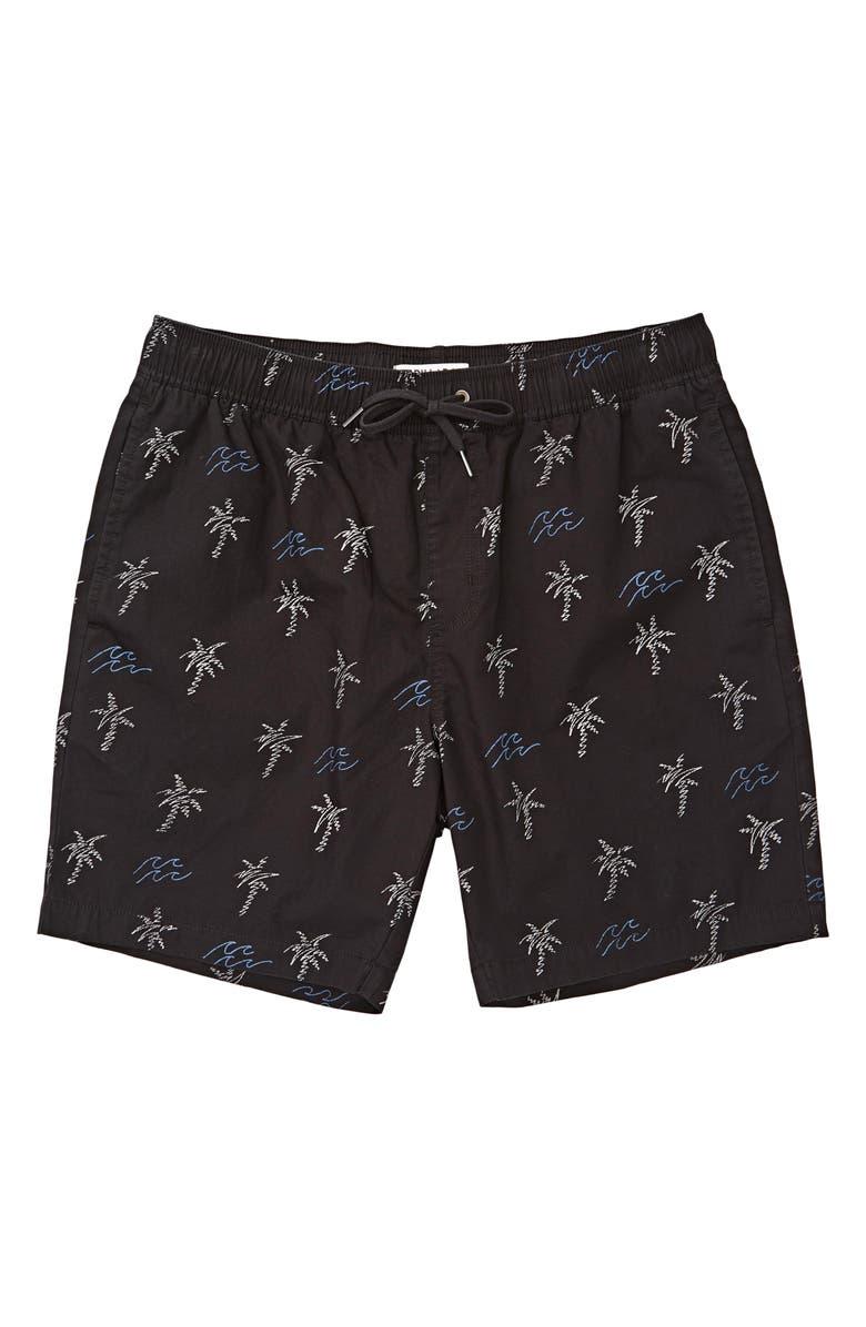 BILLABONG Larry Layback Sunday Shorts, Main, color, BLACK