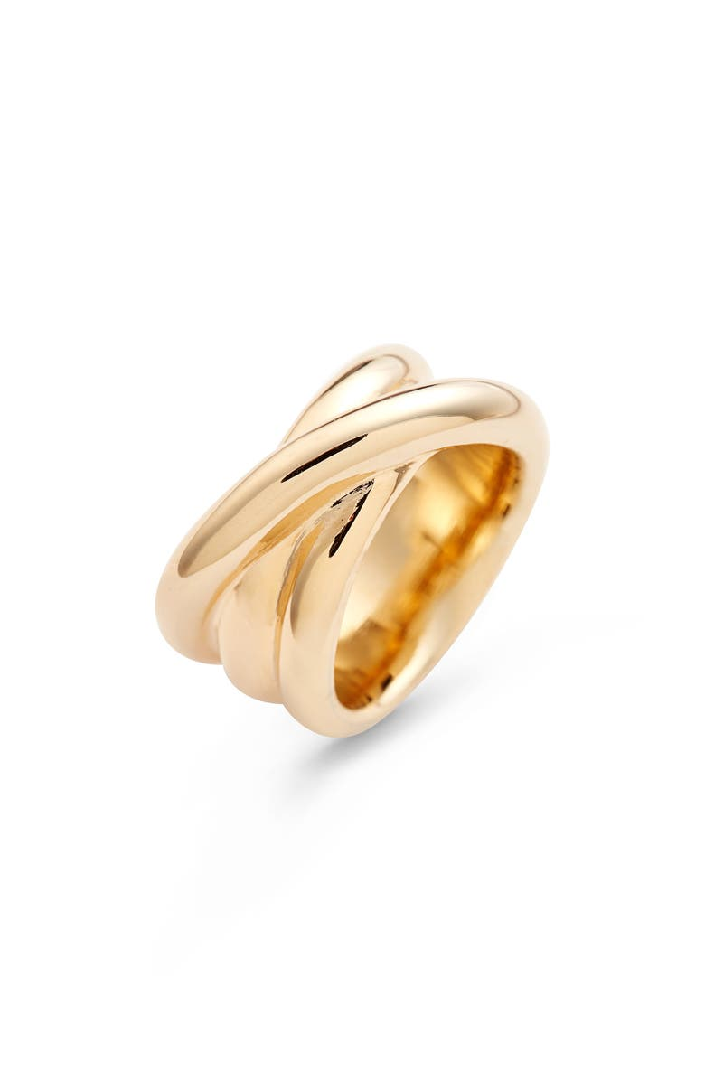 HALOGEN<SUP>®</SUP> Modern Wrap Ring, Main, color, GOLD
