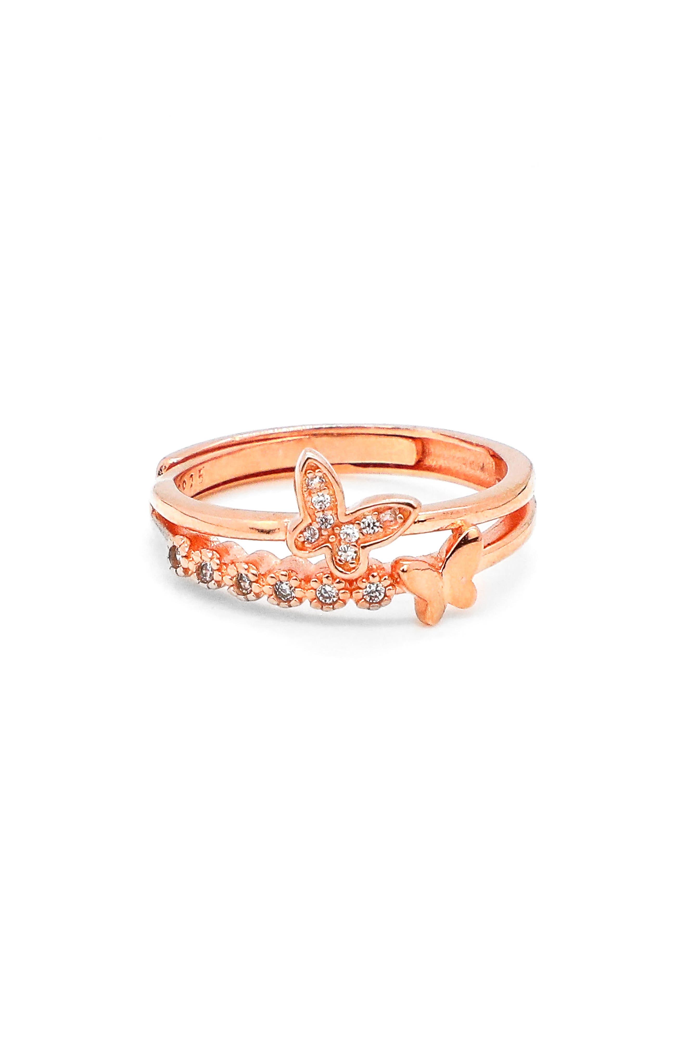 Dazzling Sloane Double Butterfly Ring
