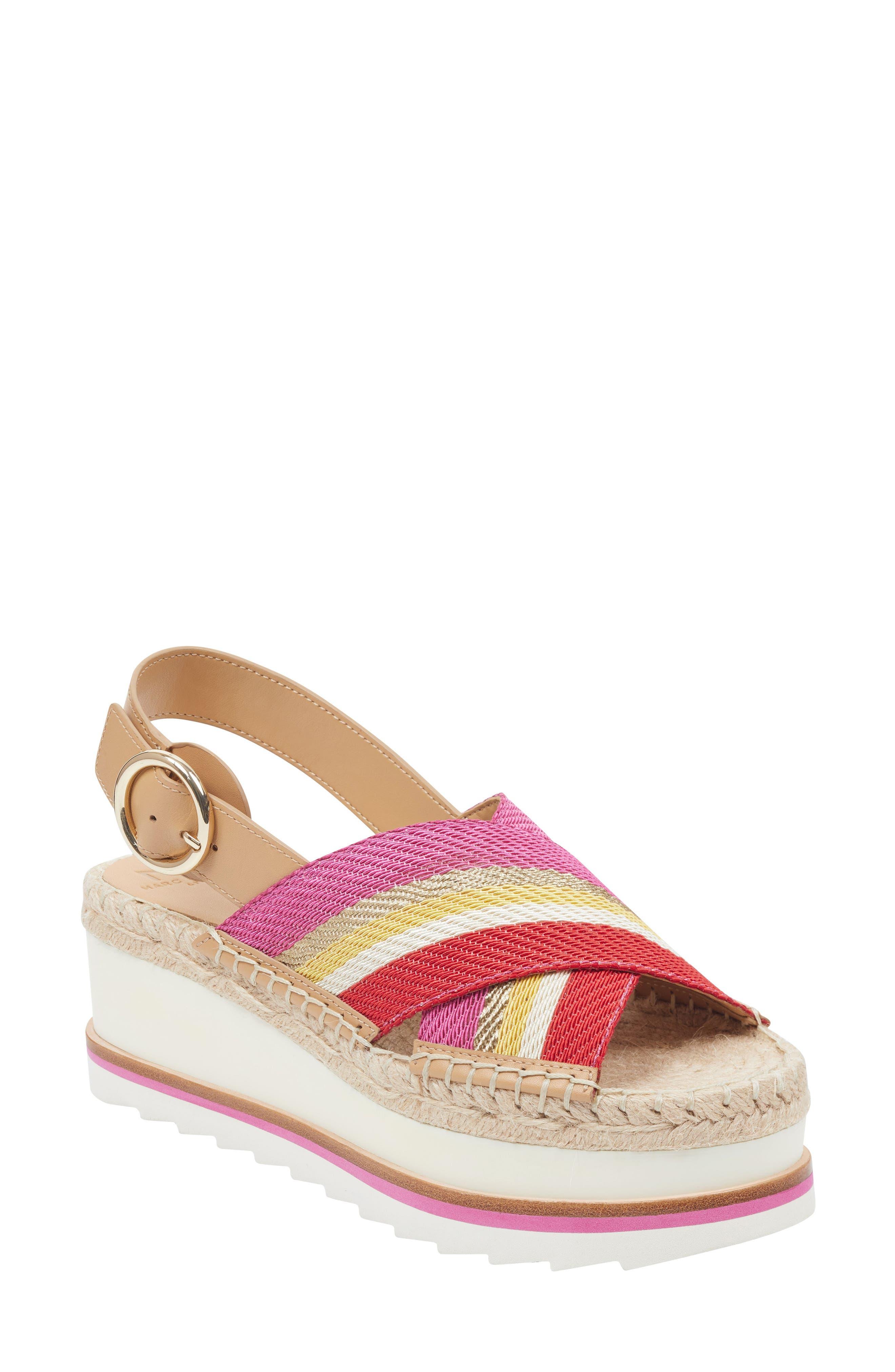 Marc Fisher Ltd Glenna Platform Slingback Sandal, Pink