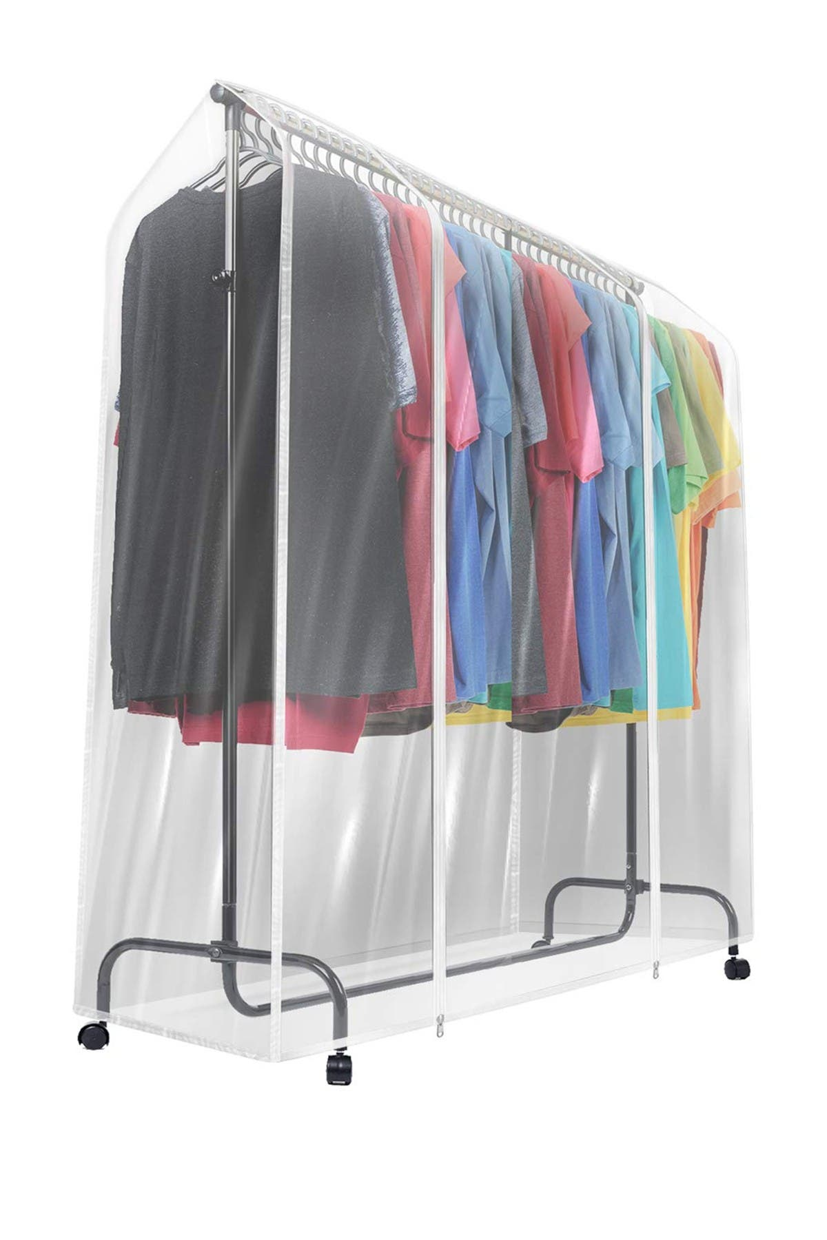 Image of Sorbus Transparent Garment Rack Cover
