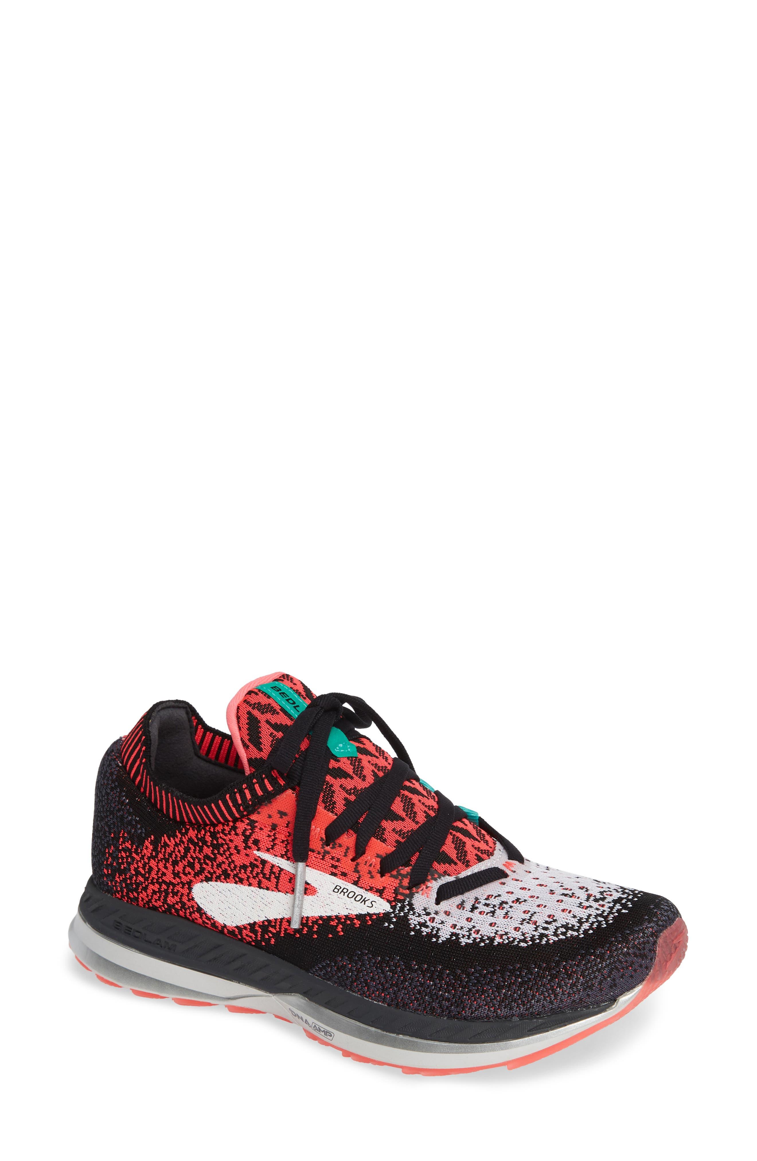Bedlam Running Shoe, Main, color, PINK/ BLACK/ WHITE