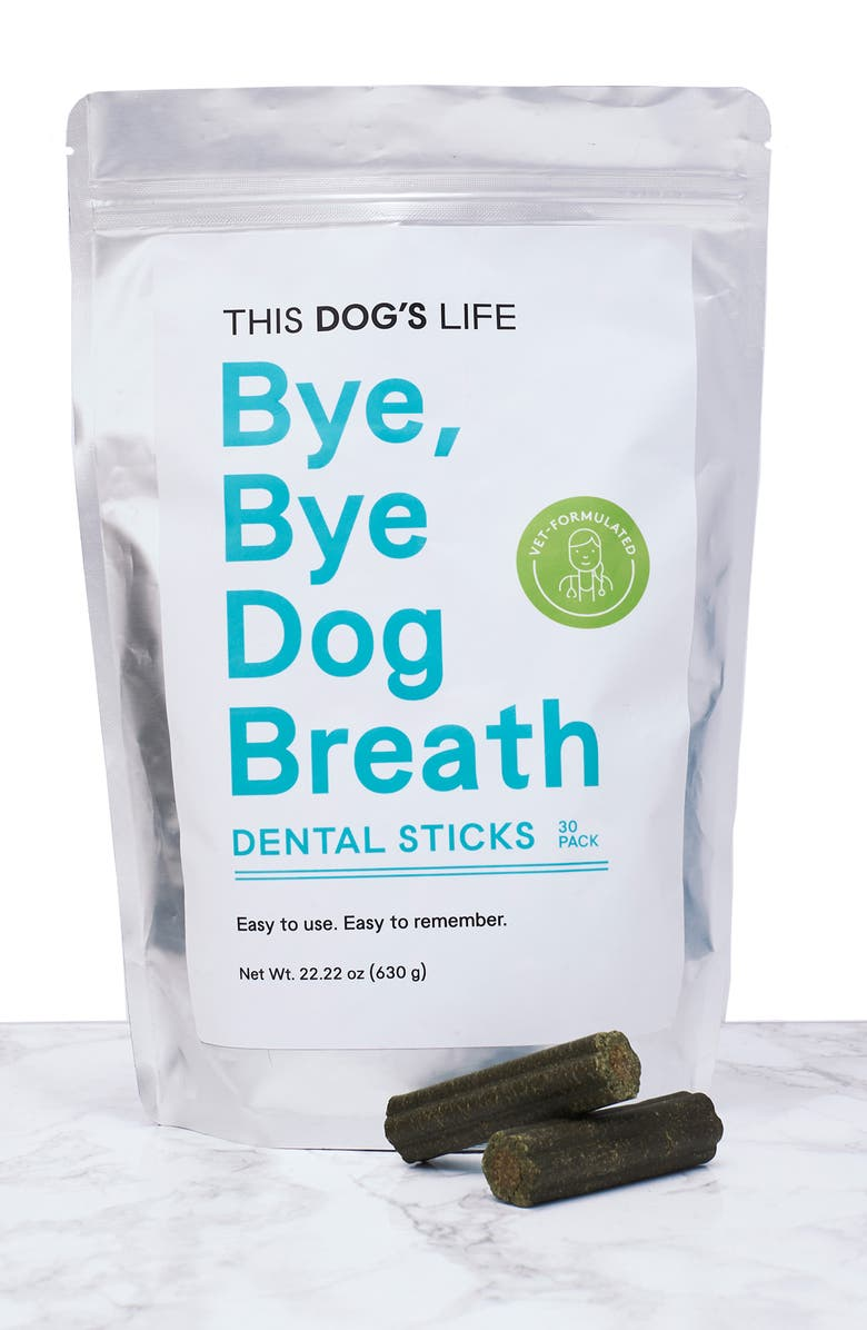 THIS DOGS LIFE This Dog's Life Bye Bye Dog Breath Dental Sticks, Main, color, 100