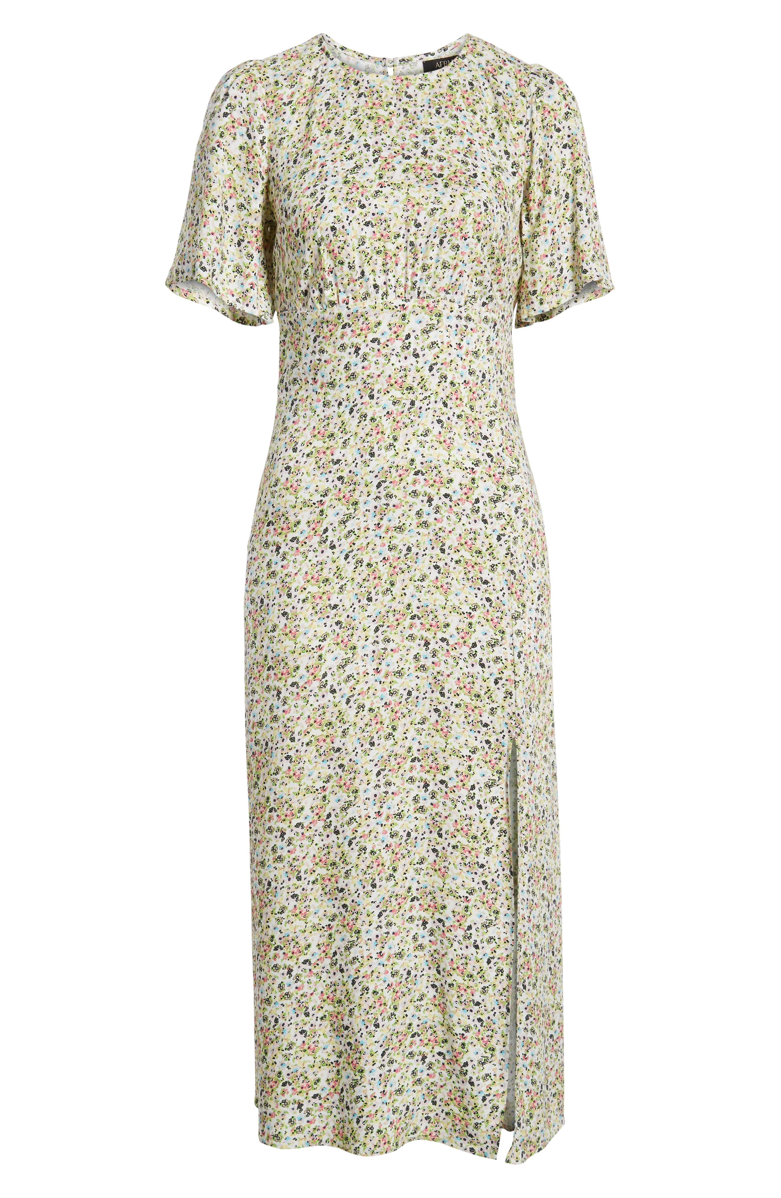 ,                             Janice Midi Dress,                             Alternate thumbnail 7, color,                             DITSY SPRING FLORAL