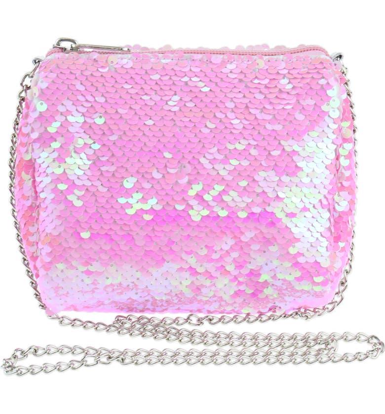 CAPELLI NEW YORK Flip Sequin Crossbody Bag, Main, color, PINK COMBO