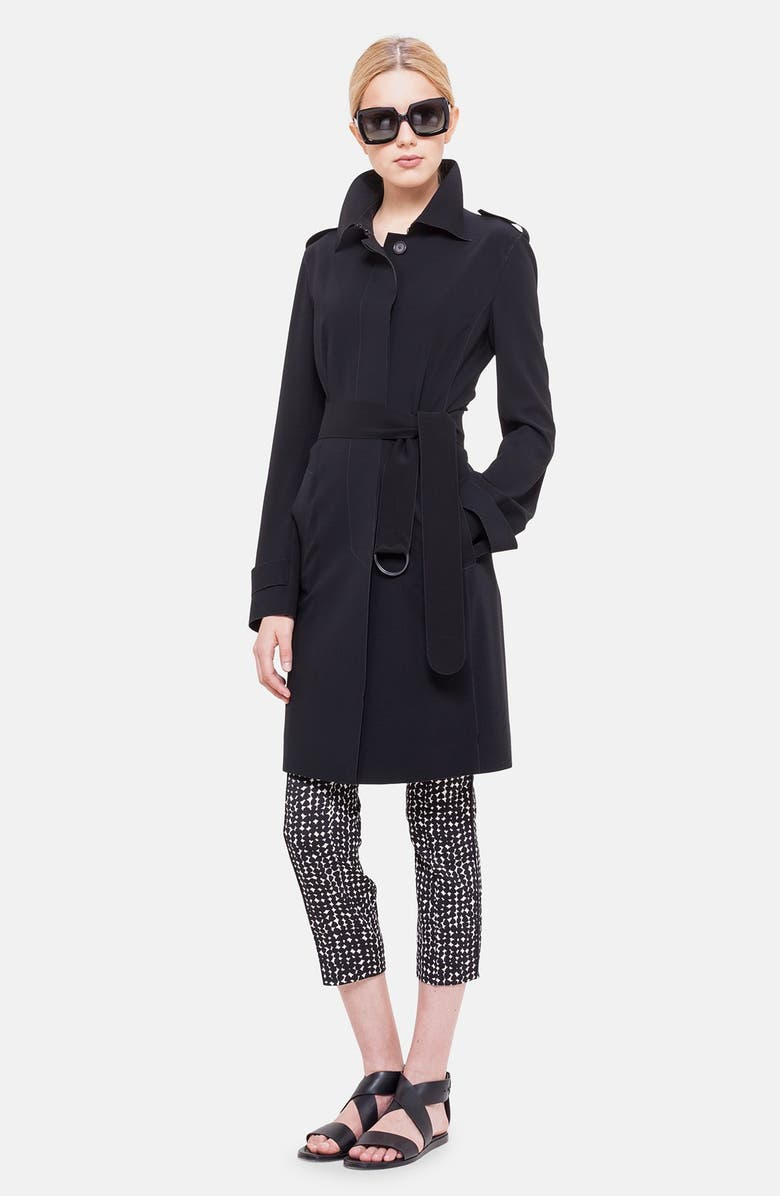 AKRIS PUNTO Belted Trench Coat, Main, color, 009