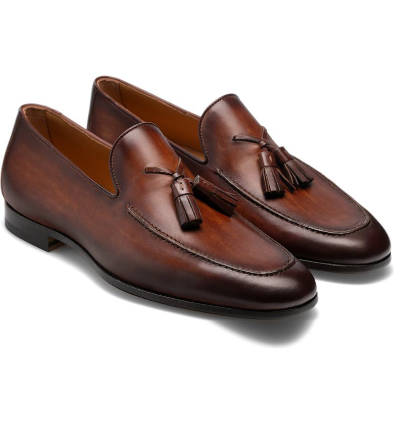 MAGNANNI Richards Tassel Loafer, Main, color, CUERO