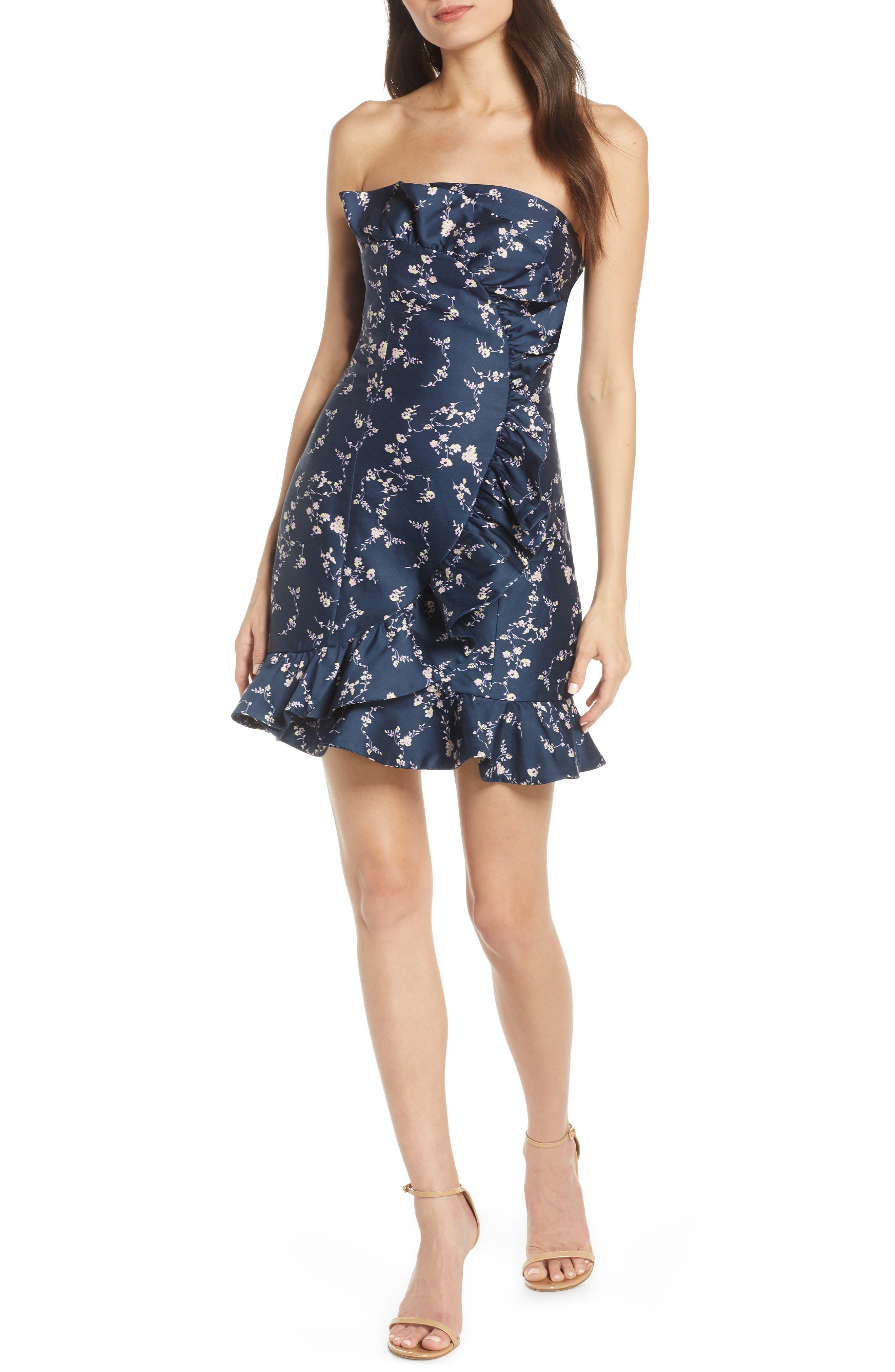 Harlyn Daybreak Ruffle Minidress, Blue