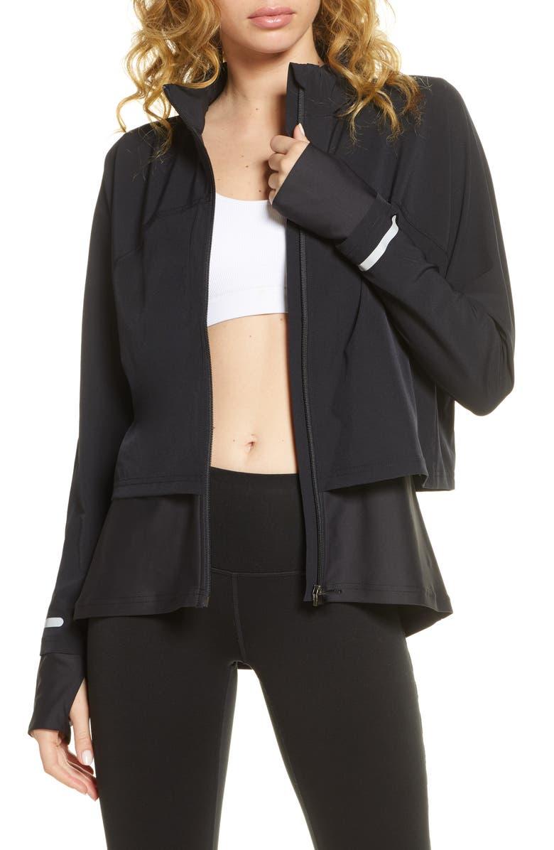 SWEATY BETTY Fast Track Jacket, Main, color, BLACK