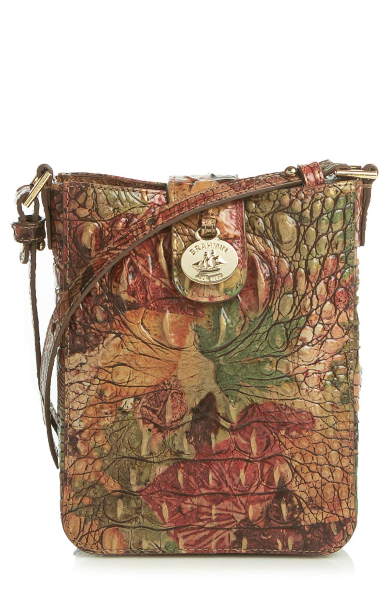 Marley Croc Embossed Leather Crossbody Bag