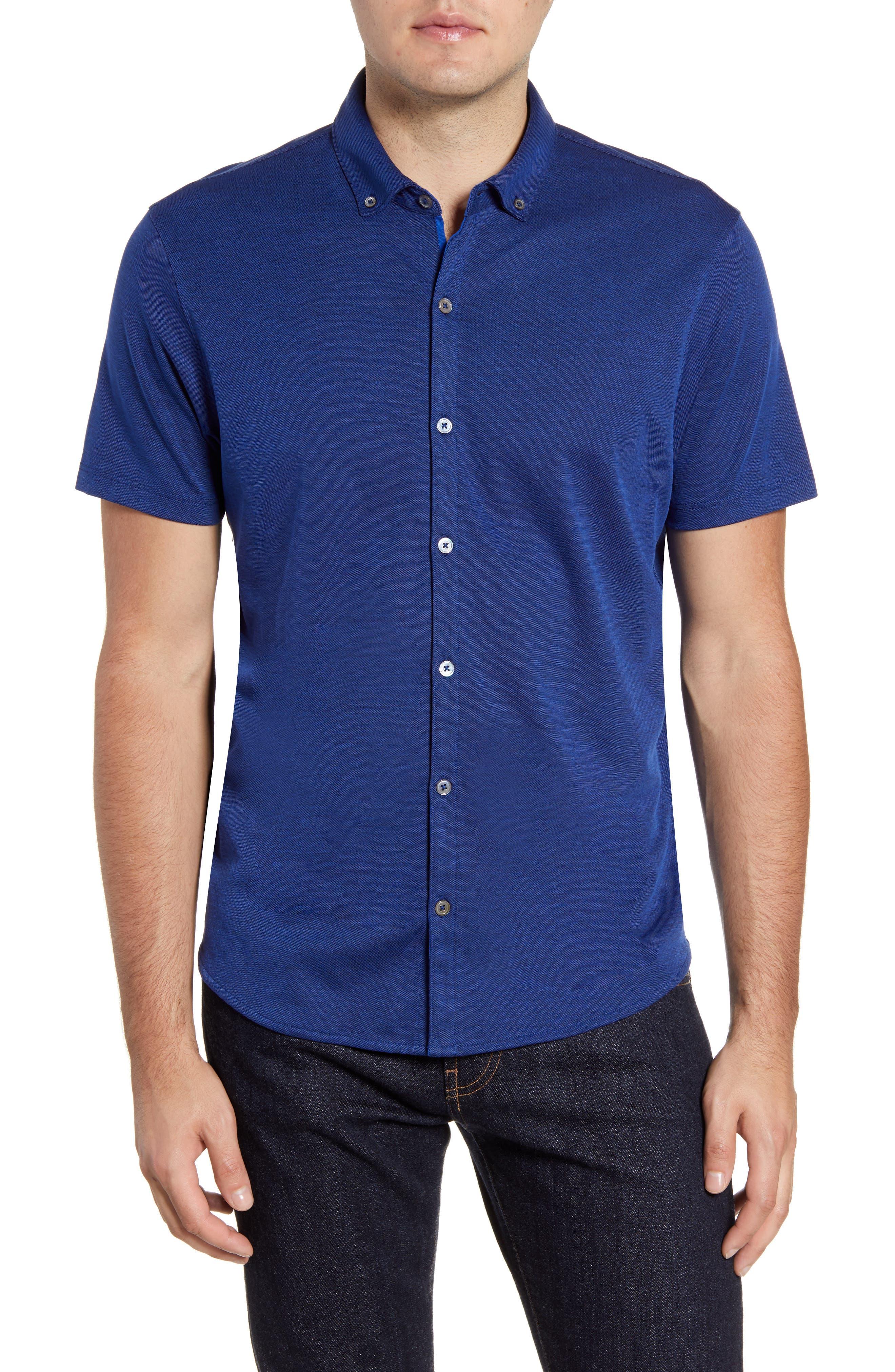 ,                             Caruth Regular Fit Short Sleeve Sport Shirt,                             Main thumbnail 25, color,                             432