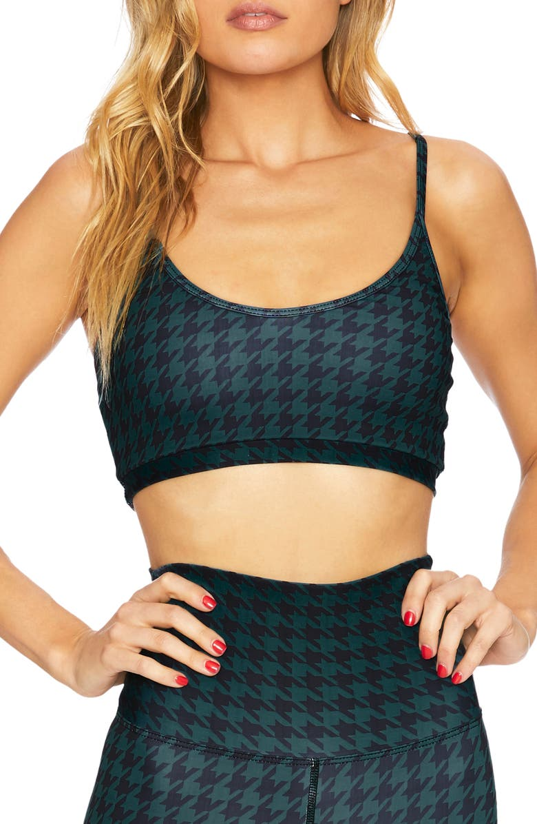 BEACH RIOT Liz Plaid Sports Bra, Main, color, 300