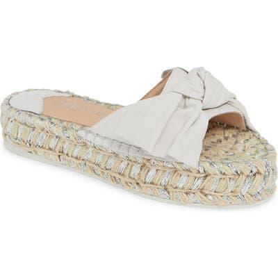 Jslides Ritsy Espadrille Slide Sandal, White