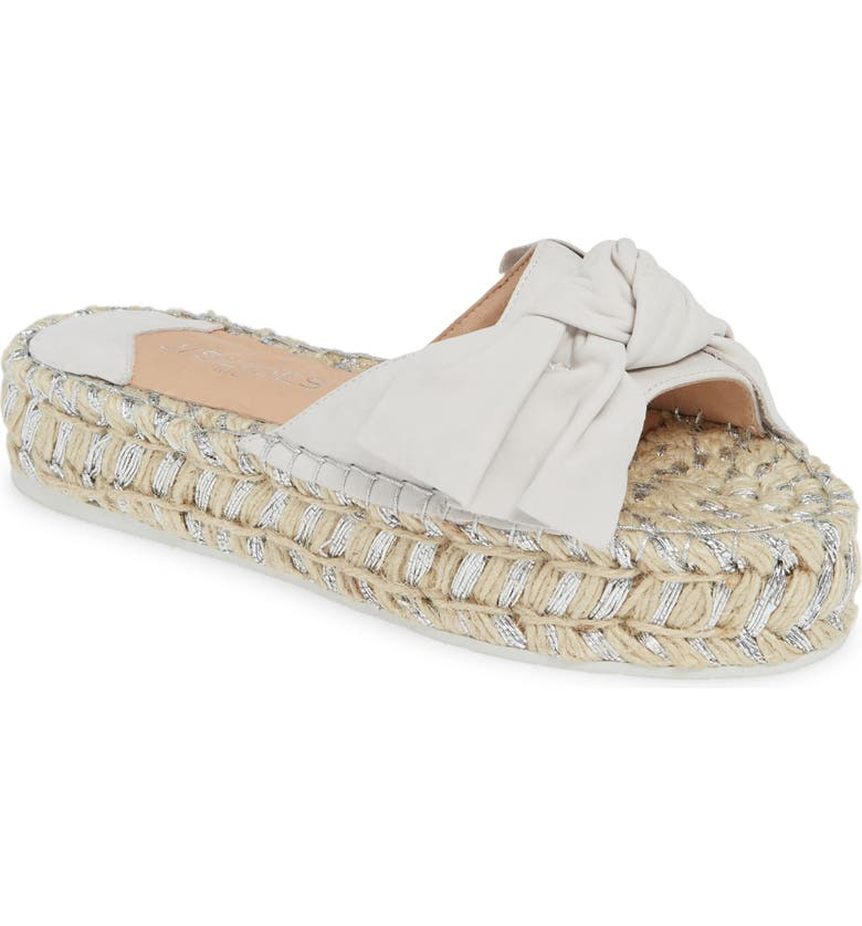 JSLIDES Ritsy Espadrille Slide Sandal, Main, color, OFF-WHITE NUBUCK LEATHER