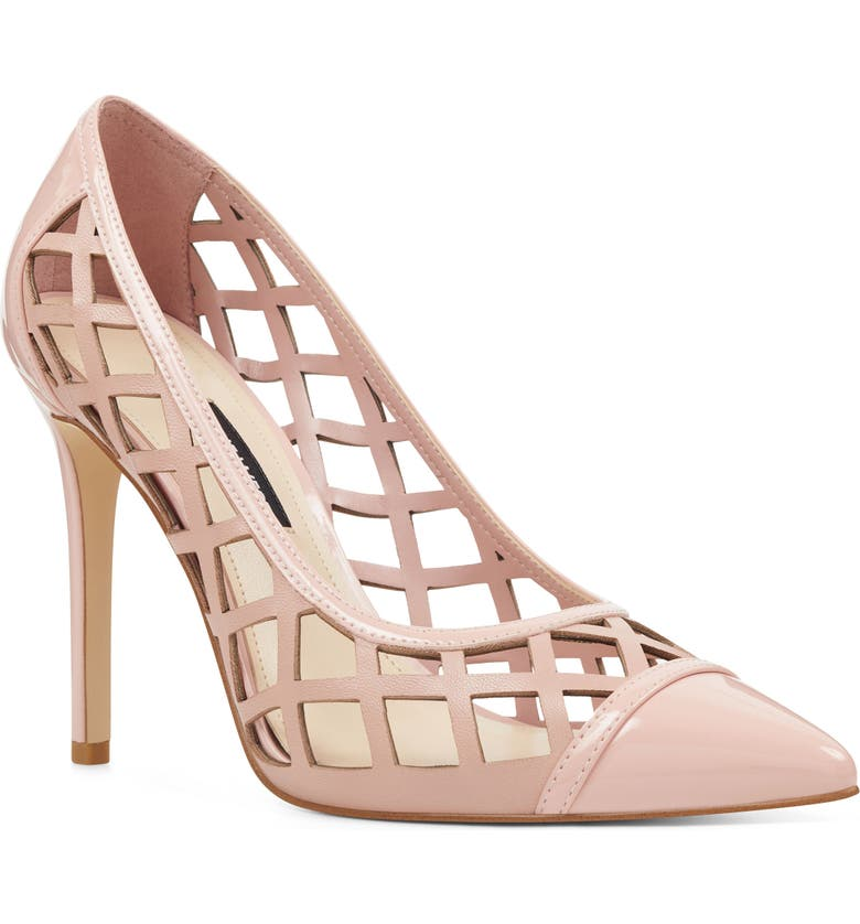 NINE WEST Tatum Cutout Pump, Main, color, PINK PATENT LEATHER