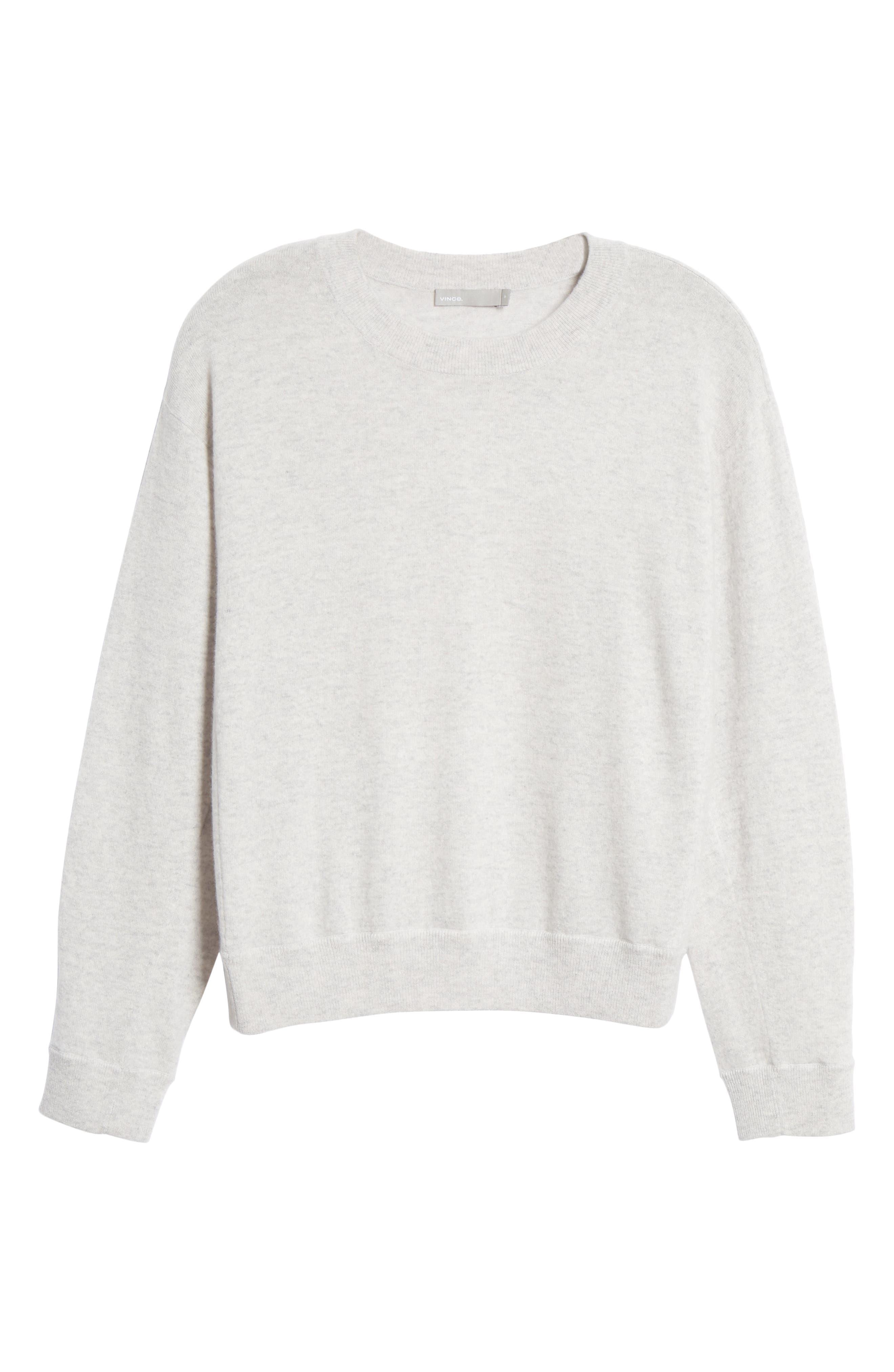 ,                             Boxy Cashmere Sweater,                             Alternate thumbnail 6, color,                             LIGHT HEATHER GREY
