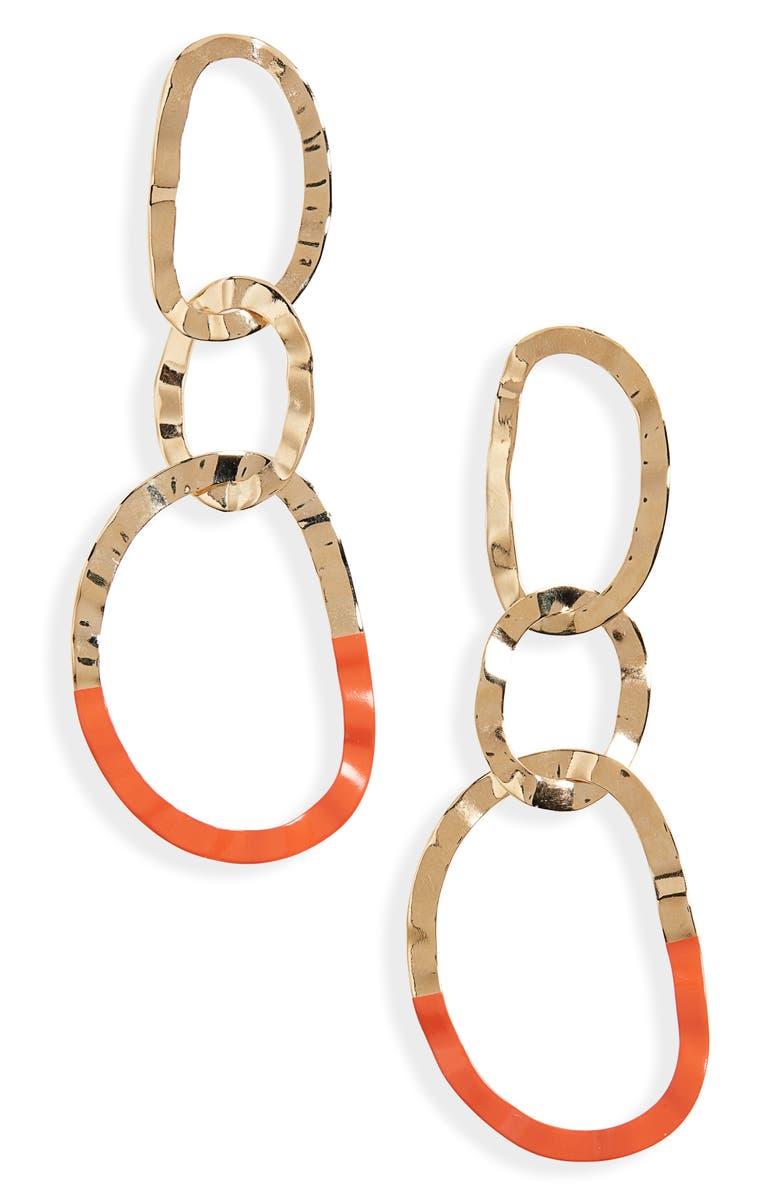 ISABEL MARANT Oreille Circle Drop Earrings, Main, color, 800