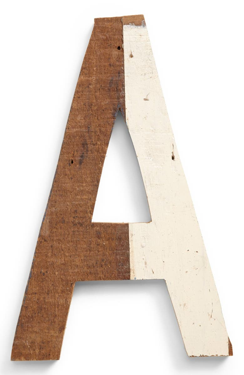 FORESIDE Decorative Wooden Letters & Numbers, Main, color, BROWN A