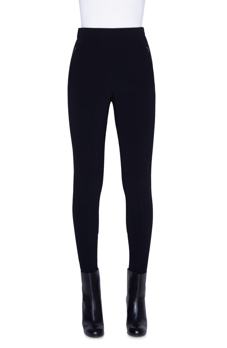 AKRIS High Waist Riding Pants, Main, color, BLACK