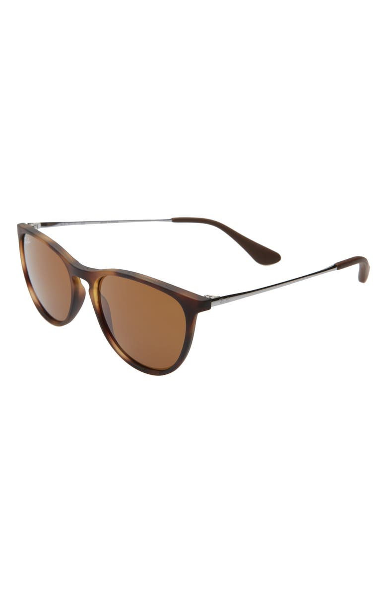 RAY-BAN Junior 50mm Round Sunglasses, Main, color, HAVANA/ BROWN SOLID