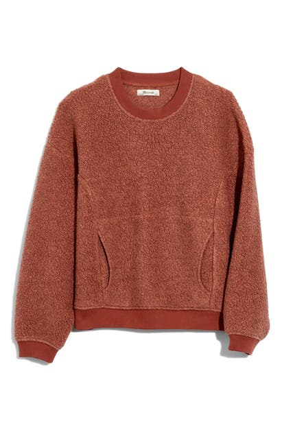 Madewell T-shirts RECYCLED POLARTEC FLEECE CREWNECK SWEATSHIRT