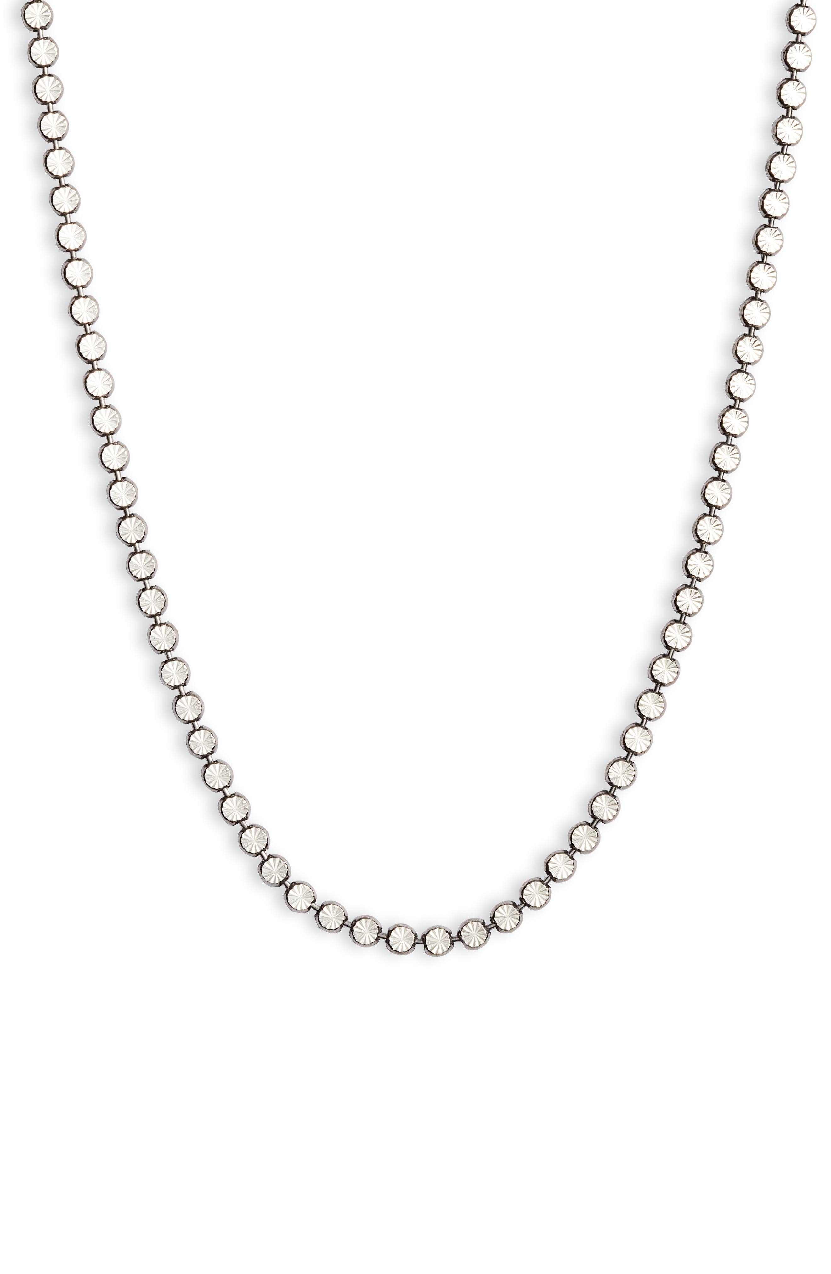 Etched Sterling Silver Necklace