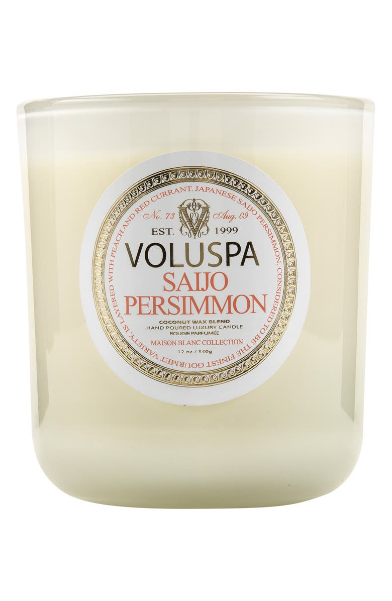 VOLUSPA Maison Blanc Saijo Persimmon Classic Maison Candle, Main, color, NO COLOR