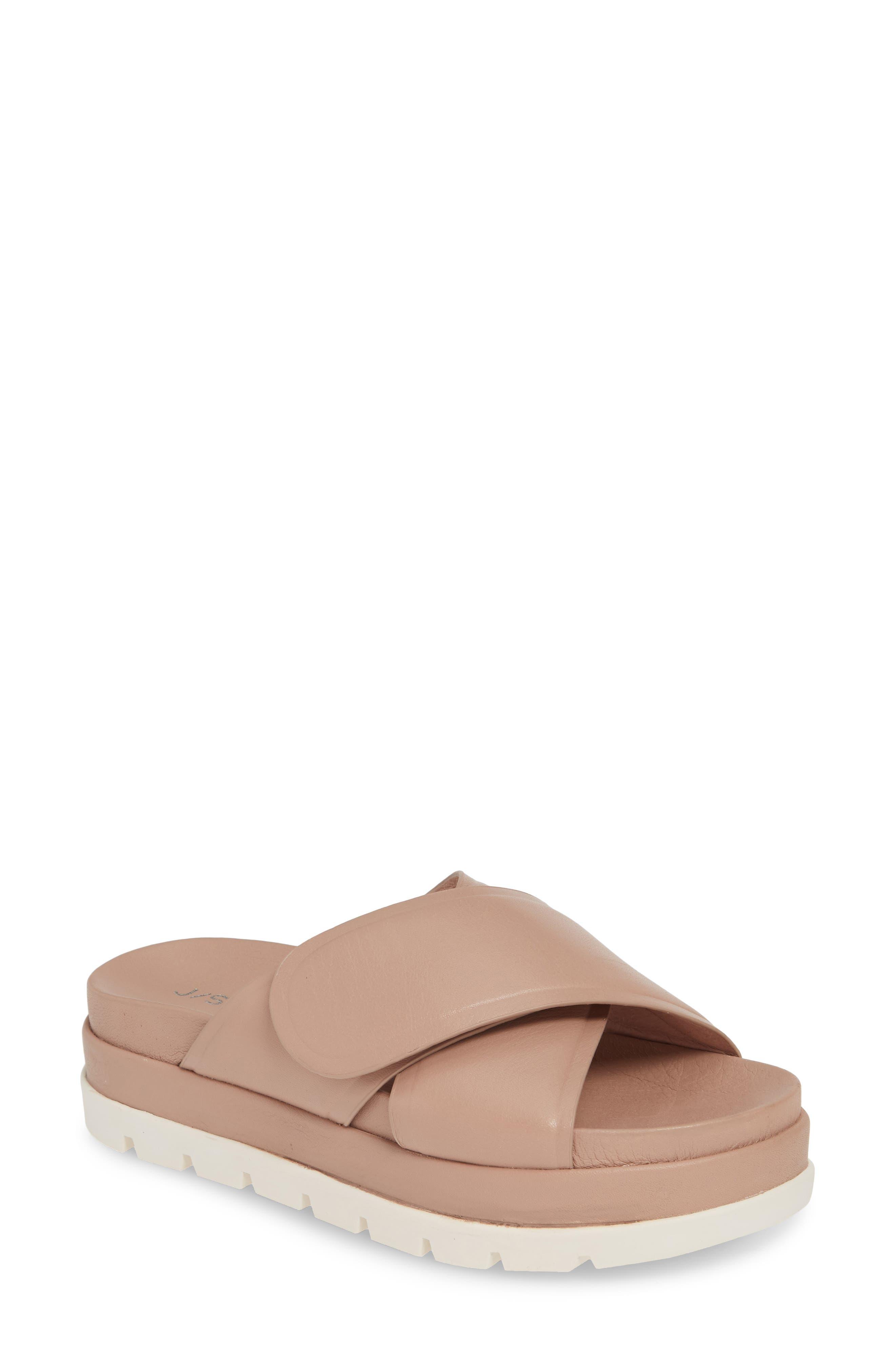 Jslides Bella Platform Slide Sandal- Purple