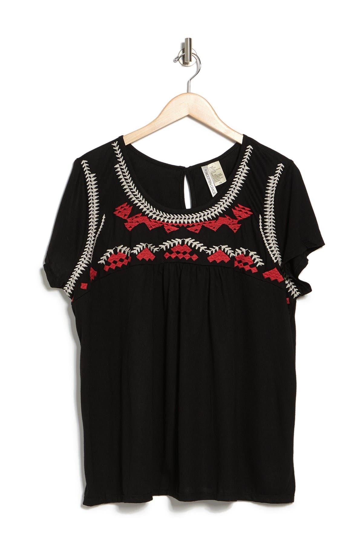 Forgotten Grace   Embroidered Babydoll T-Shirt   Nordstrom Rack