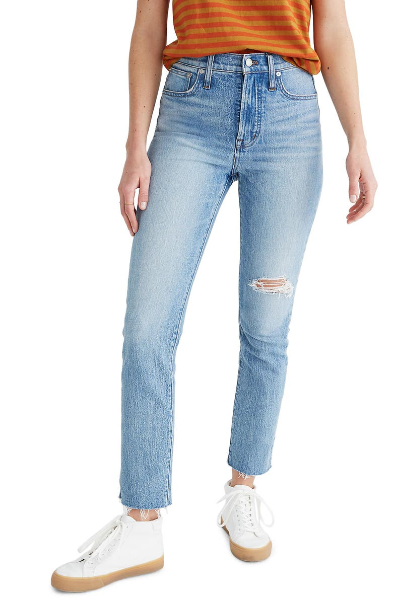 MADEWELL The Perfect Vintage Crop High Waist Jeans, Main, color, ROSABELLE