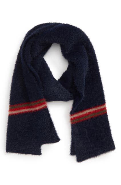 Image of Accessory Collective Stripe Fuzzy Scarf