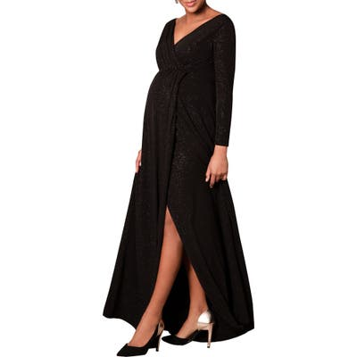 Tiffany Rose Isabella Maternity Gown, (fits like 2-4 US) - Black