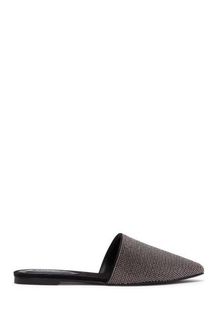 Image of Schutz Crystal Embellished Pointed Toe Mule