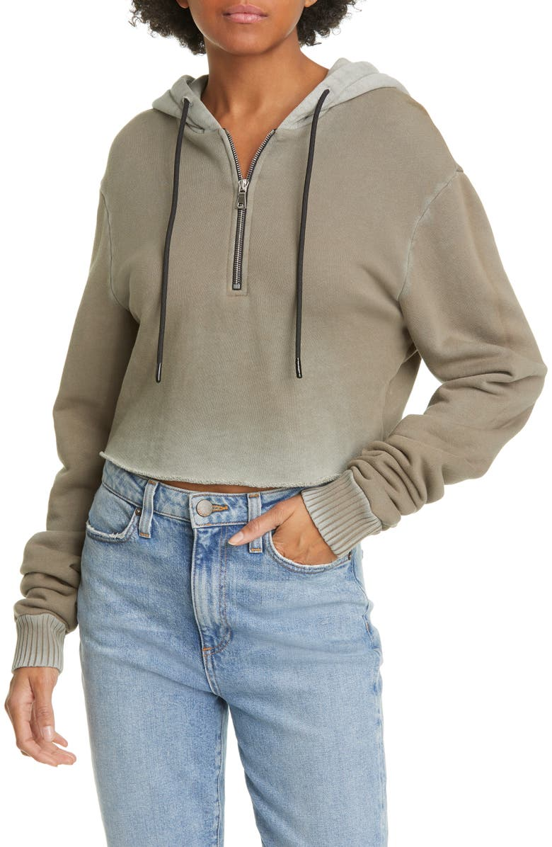COTTON CITIZEN Brooklyn Half Zip Crop Hoodie, Main, color, 025