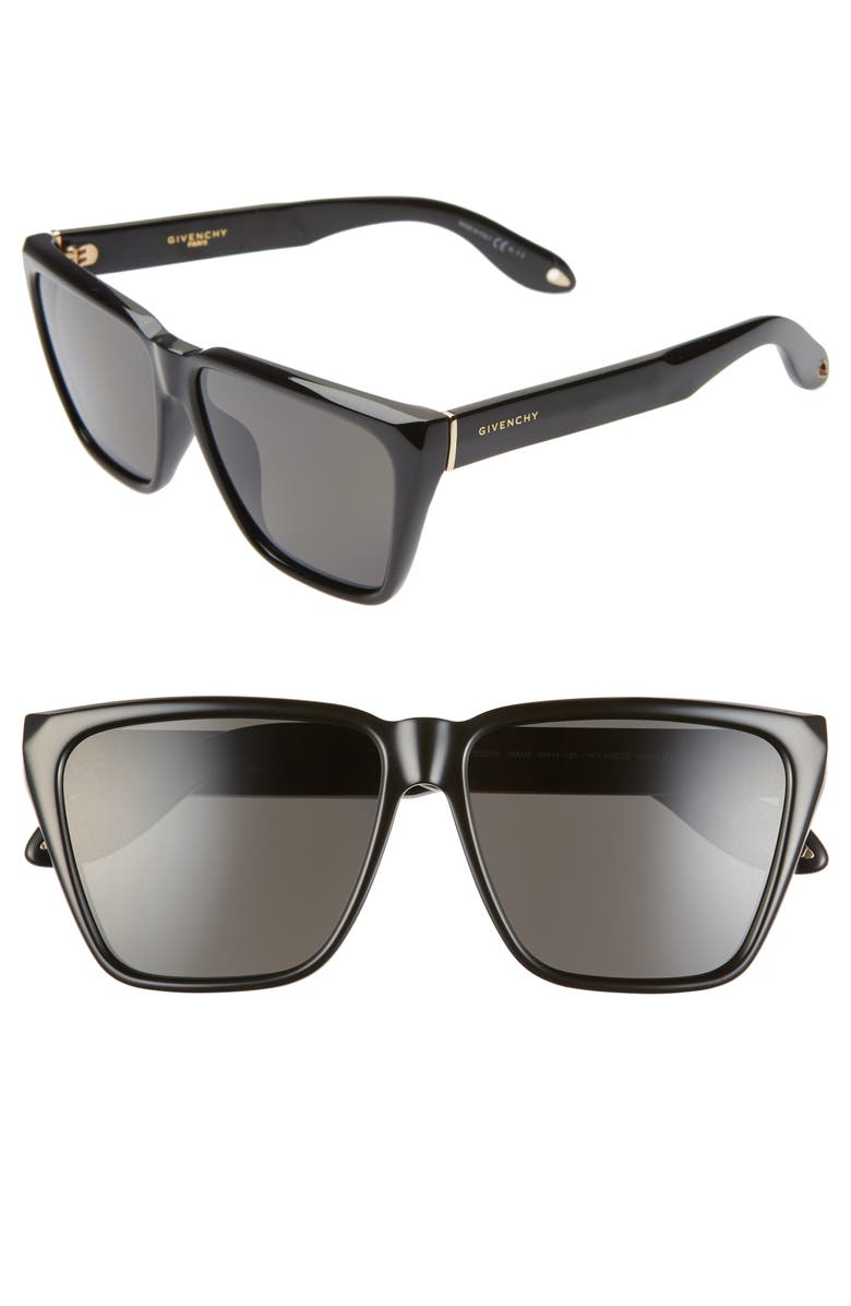 58b425dcf0 Givenchy 58mm Polarized Flat Top Sunglasses | Nordstrom