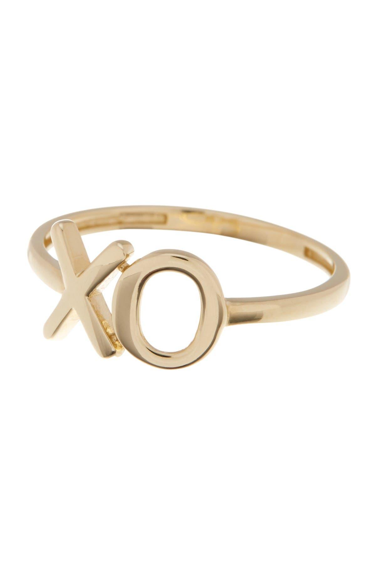 Image of KARAT RUSH 10K Yellow Gold X & O Ring