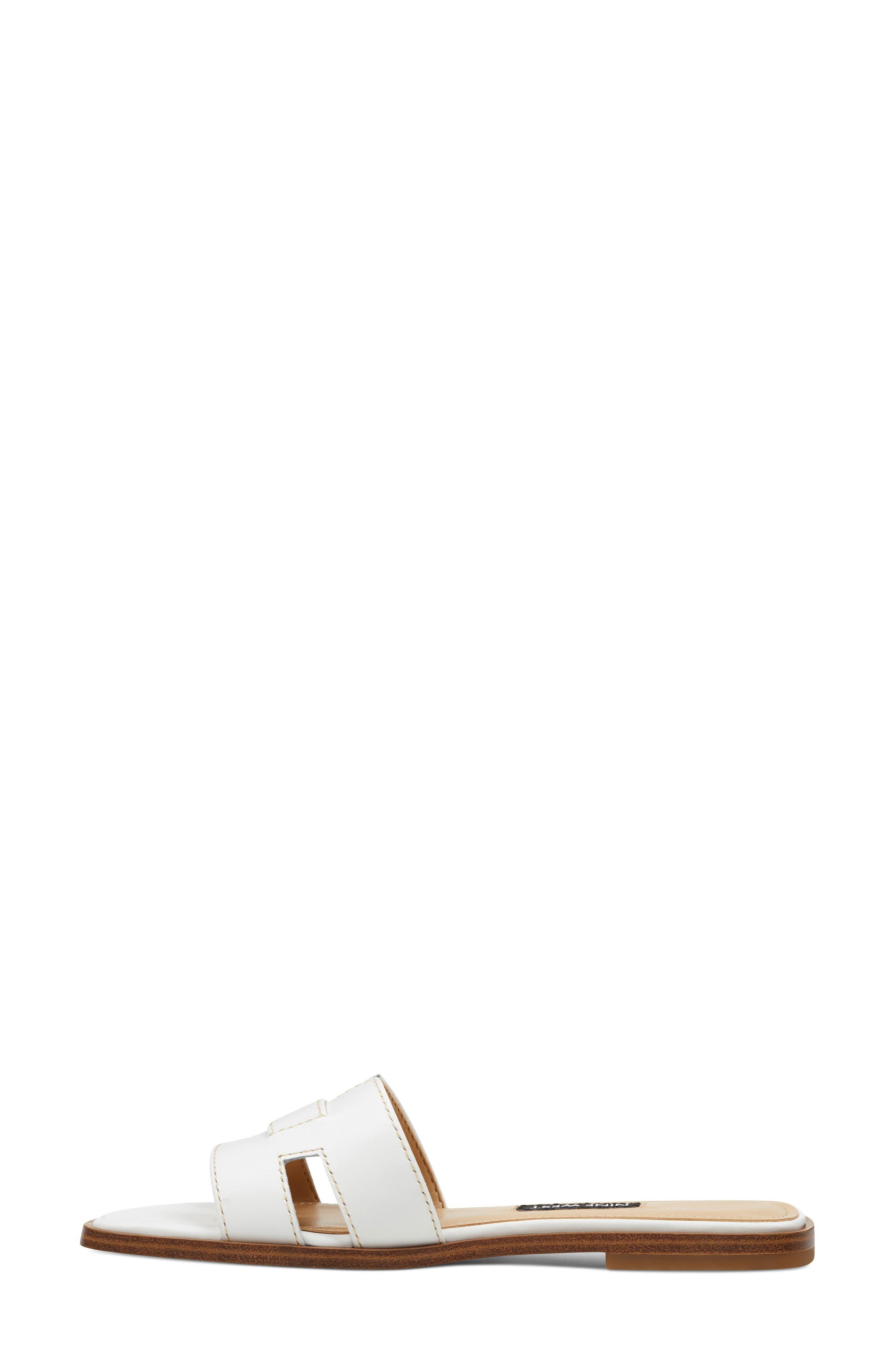 ,                             Gianna Cutout Slide Sandal,                             Alternate thumbnail 7, color,                             WHITE LEATHER