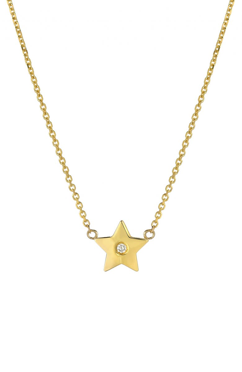 MINI MINI JEWELS Forever Collection - Star Diamond Pendant Necklace, Main, color, YELLOW GOLD