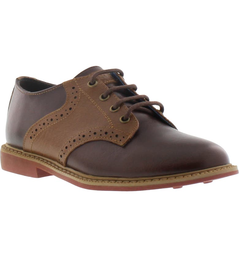 REACTION KENNETH COLE Spencer Racer Oxford, Main, color, BROWN LEATHER