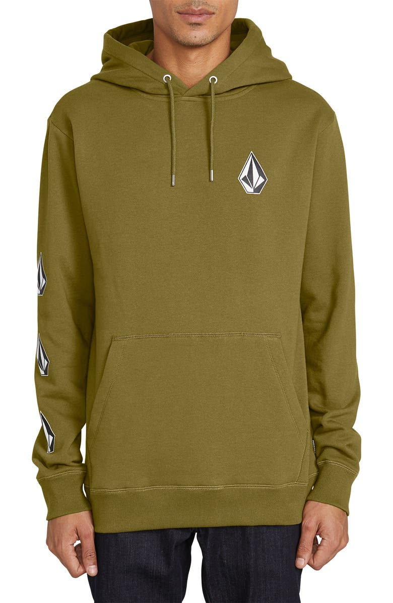 VOLCOM Deadly Stones Hoodie, Main, color, SONIC GREEN