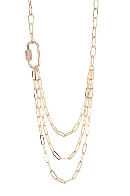 Image of Panacea Triple Swoop Row Chain Layered Necklace