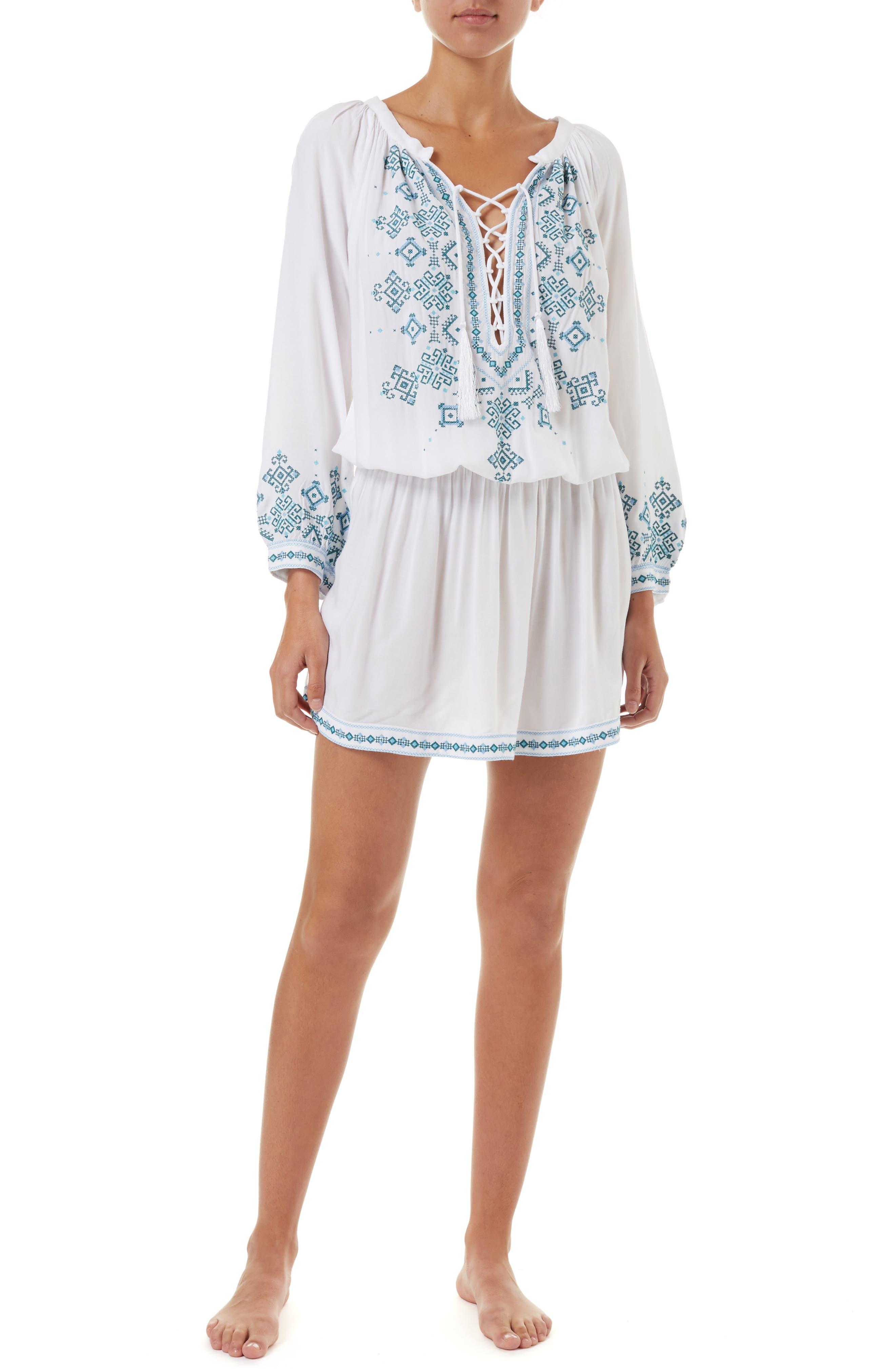 Melissa Odabash Nadja Cover-Up Dress, White