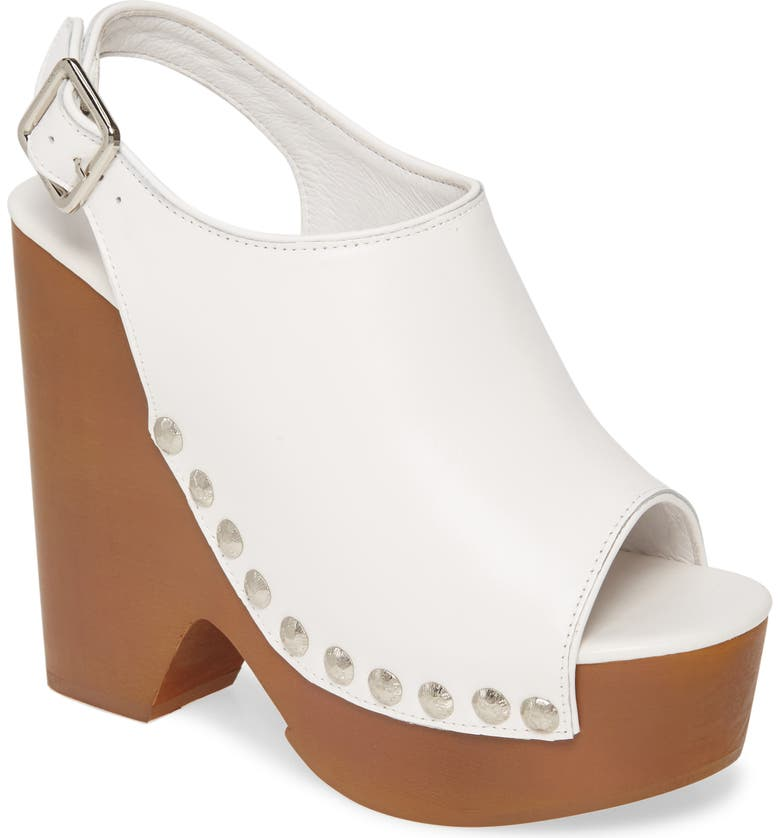 JEFFREY CAMPBELL Snicked Platform Wedge Sandal, Main, color, WHITE